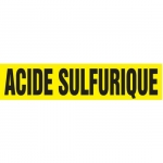 """Accuform CRPK685CTF, 5-1/4″ to 6″ Pipe Marker """"Acide Sulfurique"""" Ylw"""