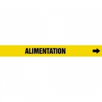 """Accuform CRPK689CTF, 5-1/4″ to 6″ Pipe Marker """"Alimentation"""" Yellow"""