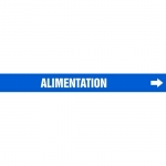 """Accuform CRPK693CTF, 5-1/4″ to 6″ Pipe Marker """"Alimentation"""" Blue"""