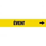 """Accuform CRPK721CTF, 5-1/4″ to 6″ Pipe Marker """"Event"""" Yellow"""