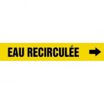 "Accuform CRPK773CTF, 5-1/4″ to 6″ Pipe Marker ""Eau Recirculee"" Yellow"