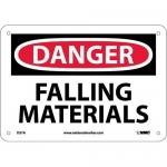 "NMC D37AF, Aluminum ""Danger Falling Material"" Sign"
