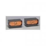 North American Signal Company DL70+SL-A, Amber Two Head Strobe System