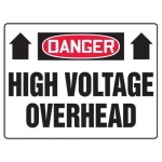 "Accuform EELC069CP, 14″ x 20″ Sign ""High Voltage Overhead"" Plastic"