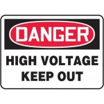 "Accuform EELC129CP, 14″ x 20″ Sign ""High Voltage Keep Out"" Plastic"