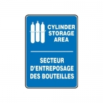 "Accuform FBMCPG520VP, Safety Sign ""Cylinder Storage Area"" Plastic"