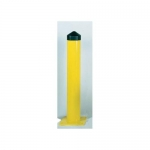 Accuform FMR465, Steel Post Bollard Yellow 6″ Diameter, 42″ High
