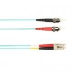 BlackBox FOCMRSM-030M-STLC-AQ, 30-m ST-LC PVC Aqua Fiber Optic Cable