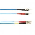 BlackBox FOCMRSM-030M-STLC-BL, 30-m ST-LC PVC Blue Fiber Optic Cable