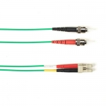 BlackBox FOCMRSM-030M-STLC-GN, 30-m ST-LC PVC Green Fiber Optic Cable