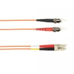 BlackBox FOCMRSM-030M-STLC-OR, 30-m ST-LC PVC Orange Fiber Optic Cable