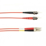 BlackBox FOCMRSM-030M-STLC-RD, 30-m ST-LC PVC Red Fiber Optic Cable