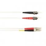 BlackBox FOCMRSM-030M-STLC-WH, 30-m ST-LC PVC White Fiber Optic Cable