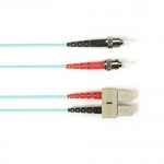 BlackBox FOCMRSM-030M-STSC-AQ, 30-m ST-SC PVC Aqua Fiber Optic Cable