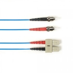 BlackBox FOCMRSM-030M-STSC-BL, 30-m ST-SC PVC Blue Fiber Optic Cable