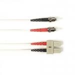 BlackBox FOCMRSM-030M-STSC-WH, 30-m ST-SC PVC White Fiber Optic Cable