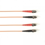 BlackBox FOCMRSM-030M-STST-OR, 30-m ST-ST PVC Orange Fiber Optic Cable