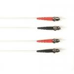 BlackBox FOCMRSM-030M-STST-WH, 30-m ST-ST PVC White Fiber Optic Cable