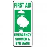 """Accuform FRMFSD996XT, Sign """"First Aid – Emergency Shower & Eye Wash"""""""
