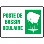 "Accuform FRMFSR501XT, Bilingual French Sign ""Poste De Bassin Oculaire"""