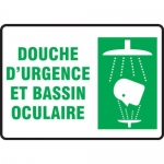 """Accuform FRMFSR517XT, Bilingual French Sign """"Douche D'urgence …"""""""