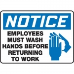 "Accuform FRMRST805XT, OSHA Safety Sign ""Employees Must Wash Hands …"""