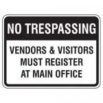 "Accuform FRP910HP, Facility Traffic Sign ""Vendors & Visitors …"""