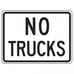"""Accuform FRR043HP, Traffic Sign """"No Trucks"""" High Intensity Prismatic"""