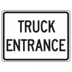 """Accuform FRR045HP, Facility Traffic Sign """"Truck Entrance"""""""