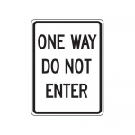 """Accuform FRR124HP, Facility Traffic Sign """"One Way – Do Not Enter"""""""