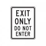 """Accuform FRR230HP, Facility Traffic Sign """"Exit Only Do Not Enter"""""""