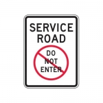 """Accuform FRR235HP, Traffic Sign """"Service Road Do Not Enter"""""""