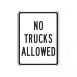 "Accuform FRR241HP, Traffic Sign ""No Trucks Allowed"""