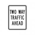 "Accuform FRR243HP, Facility Traffic Sign ""Two Way Traffic Ahead"""