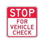 """Accuform FRR248HP, Facility Traffic Sign """"For Vehicle Check"""""""