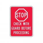 """Accuform FRR253HP, Facility Traffic Sign """"Stop Check …"""""""