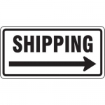 """Accuform FRR258HP, Facility Traffic Sign """"Shipping, Right Arrow"""""""