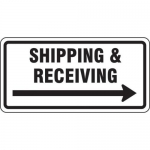 """Accuform FRR267HP, Facility Traffic Sign """"Shipping …"""""""