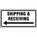 """Accuform FRR268HP, Facility Traffic Sign """"Shipping …"""""""