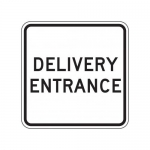 """Accuform FRR271HP, Facility Traffic Sign """"Delivery Entrance"""""""