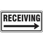 """Accuform FRR274HP, Facility Traffic Sign """"Receiving"""" Right Arrow"""