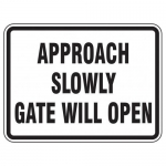 """Accuform FRR283HP, Facility Traffic Sign """"Approach Slowly …"""""""