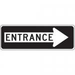 "Accuform FRR294HP, Facility Traffic Sign ""Entrance"" Right Arrow"