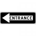 "Accuform FRR295HP, Facility Traffic Sign ""Entrance"" Left Arrow"
