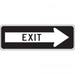 """Accuform FRR296HP, Facility Traffic Sign """"Exit"""" Right Arrow"""