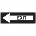 """Accuform FRR297HP, Facility Traffic Sign """"Exit"""" Left Arrow"""