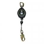 Safewaze FS-FSP1211-G-RBH, 11′ Cable Retractable w/ Locking Rebar Hook