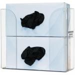 Bowman Dispensers GP-320, Glove Box Dispenser, Double, Clear Plastic