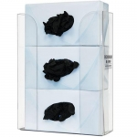 Bowman Dispensers GP-330, Glove Box Dispenser, Triple, Clear Plastic