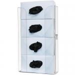 Bowman Dispensers GP-340, Glove Box Dispenser, Quad, Clear Plastic